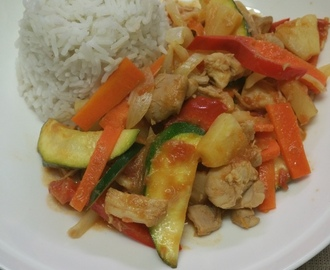 Sweet & Sour Chicken with Vegetables