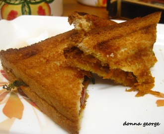 Grilled Carrot & Cheese Sandwich