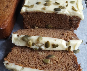 Gluten Free Banana Bread with Lactose Free Cream Cheese Frosting