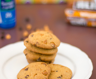 Bolachas com pepitas de chocolate e caramelo • Chocolate and butterscotch chip cookies