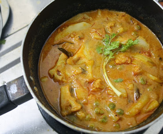 Mixed Vegetable Kurma 4 ~ Side Dish for Roti