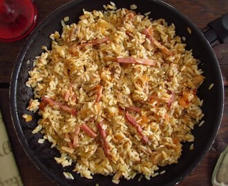Tuna and bacon with rice