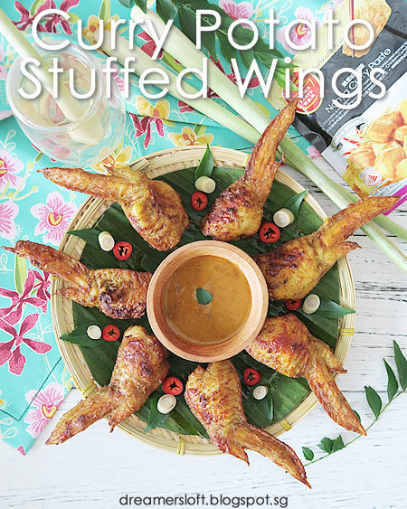 Curry Potato Stuffed Chicken Wings