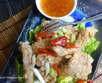 Salt and Pepper Chicken with Chilli Dipping Sauce
