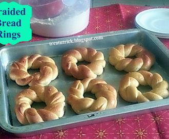 BRAIDED BREAD RINGS  RECIPE