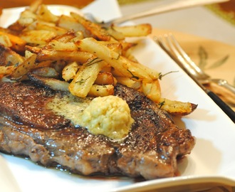 Steak with Mustard Butter and French Fries~My Paris Kitchen