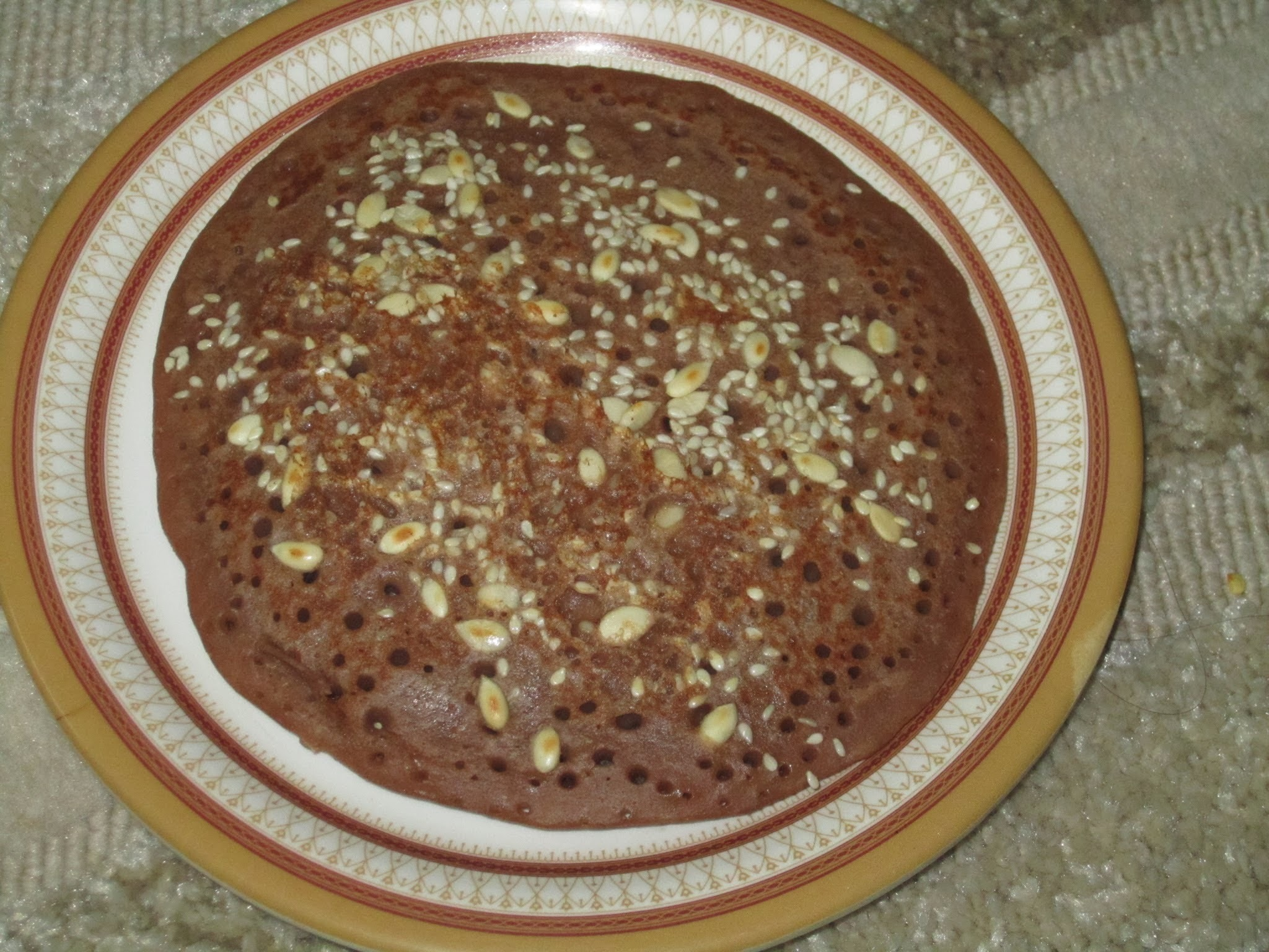 Barley chocolate pancake