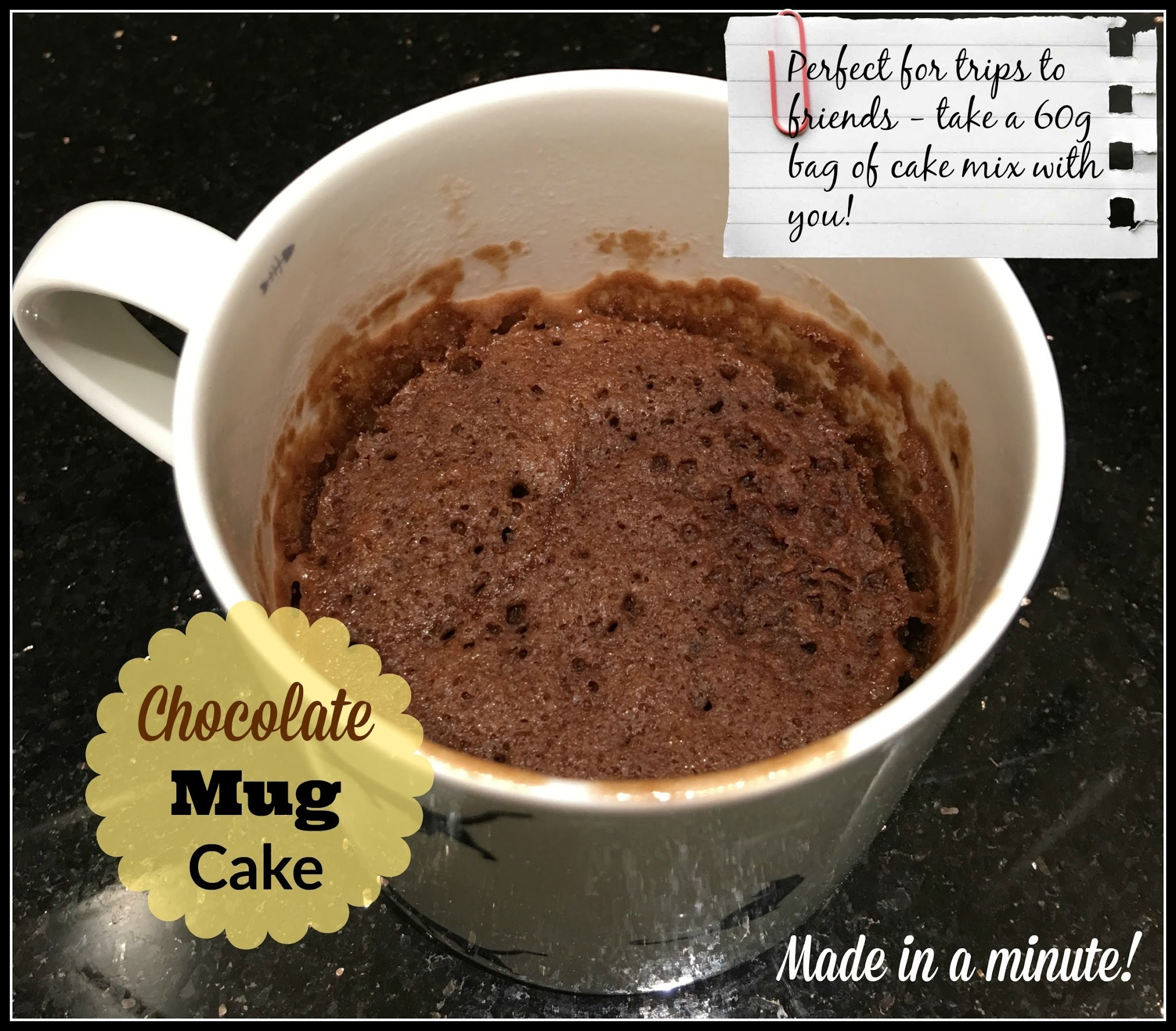 Chocolate Mug Cake - gluten, dairy, soya, nut and egg free!