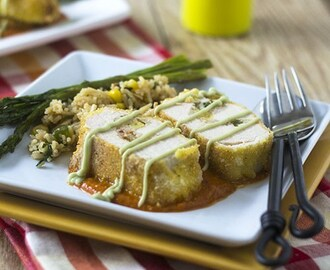 Mexican Risotto Stuffed Chicken Milanese