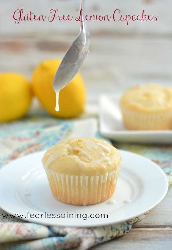 Easy Gluten Free Lemon Cupcakes with Lemonade Icing