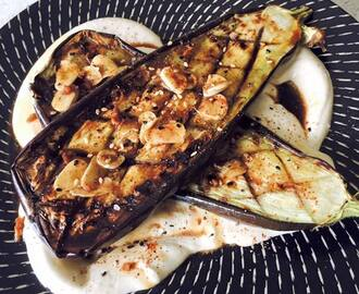 Charred Eggplant with Tahini and Sweet Date Vinegar