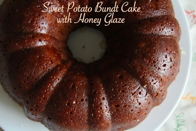 Sweet Potato Bundt Cake with Honey Glaze