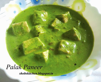 Palak Paneer / Cottage Cheese in Creamy Spinach