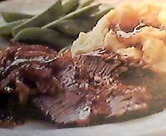 Beef Brisket with Caramelized Onion Gravy Recipe