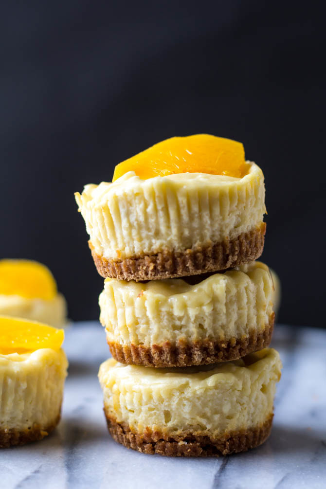 Mini Peach Cheesecakes