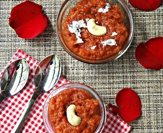 Apple Milk Halwa/ Apple Halwa - Virtual Birthday Party for Shama Nagarajan