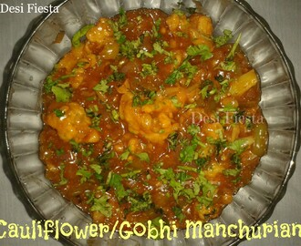 Cauliflower manchurian /gobhi manchurian (come on - let cook buddies) Entry 59