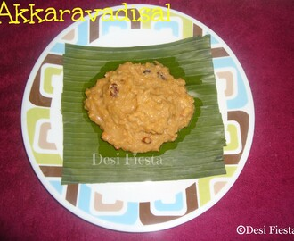 Akkaravadisal (Come On - Lets Cook Buddies) Entry 55