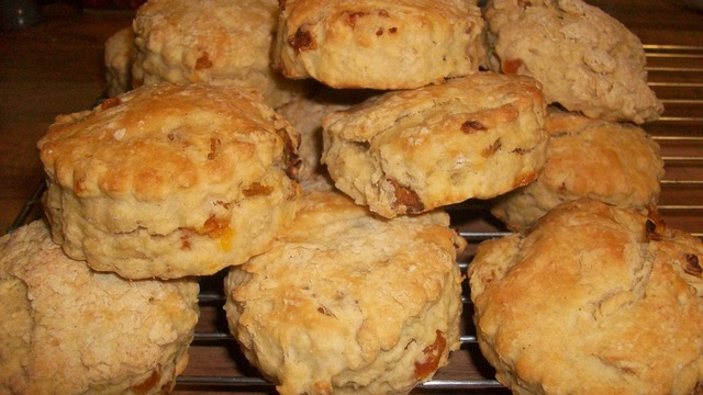 Apricot and Ginger Scones