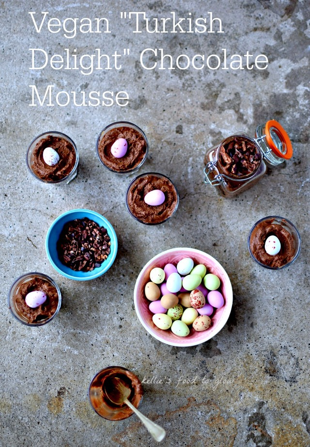 Vegan Turkish Delight Chocolate Mousse for Easter (An Aquafaba Recipe)