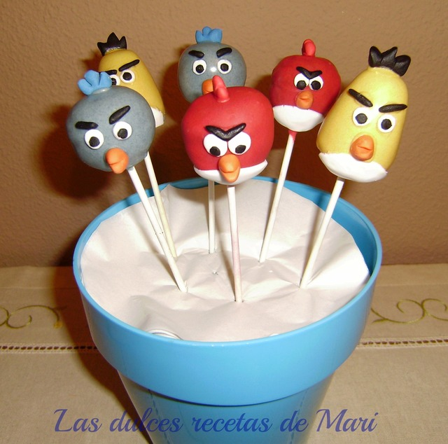 Cake pops Angry Birds