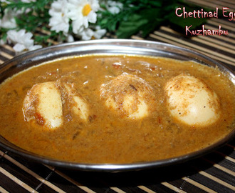 Chettinad Muttai Kuzhambu/Chettinad Egg Curry