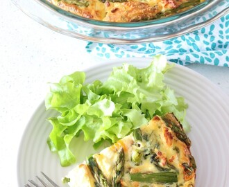 Asparagus, Pumpkin and Feta Crustless Quiche | vegetarian | gluten free