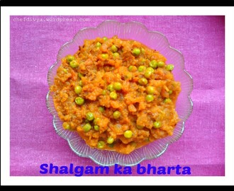 Shalgam ka bharta (Spicy Turnip Curry)