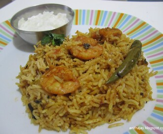 Prawn / Shrimp  Briyani - Pressure cooker