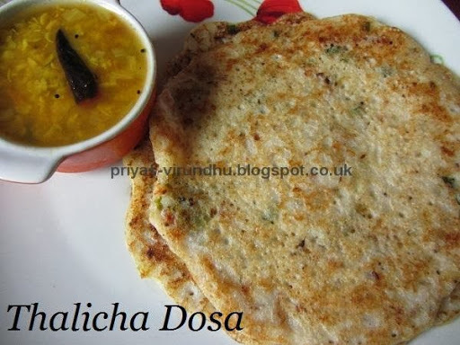 Thalicha Dosa [With left over Dosa batter]