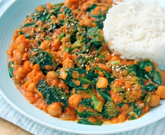 Superlekkere vegan curry