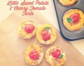 Little Sweet Potato and Cherry Tomato Tarts