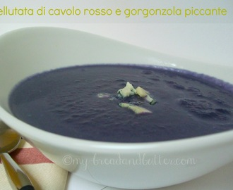 Red cabbage and gorgonzola soup!!!