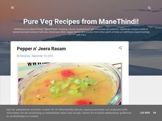 Pure Veg Recipes from ManeThindi!