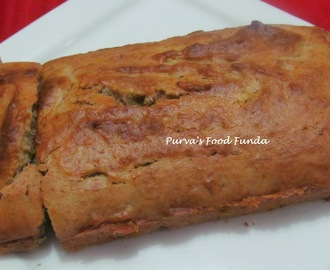 Eggless Banana Loaf Cake (Banana Bread)