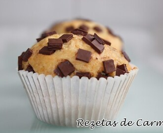 Muffins de pepitas de chocolate