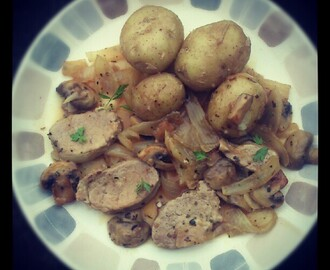 Pork Medallions in Sage & Onion Sauce