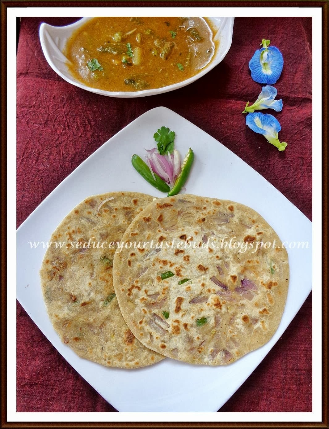 Spicy Cheese Paratha for CCC