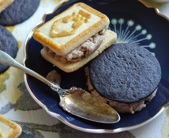 Frozen Peanut Butter & Jelly Cookie Sandwiches