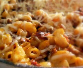 Bacon and Cheeseburger Skillet Dinner