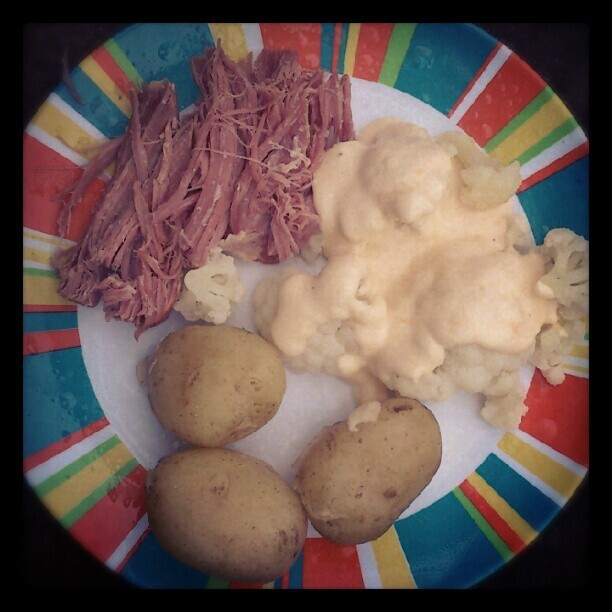 Slow Cooker Gammon & Cauliflower Cheese.