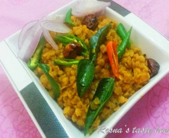 Easy dal curry/fry (lentil curry)