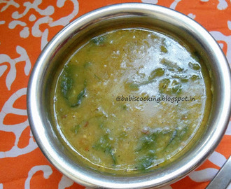 Masoor  Dal in Spinach  |  Protein packed recipe | Gravy for Rice