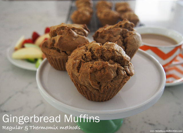 Easy Gingerbread Muffins – perfect lunch box snacks