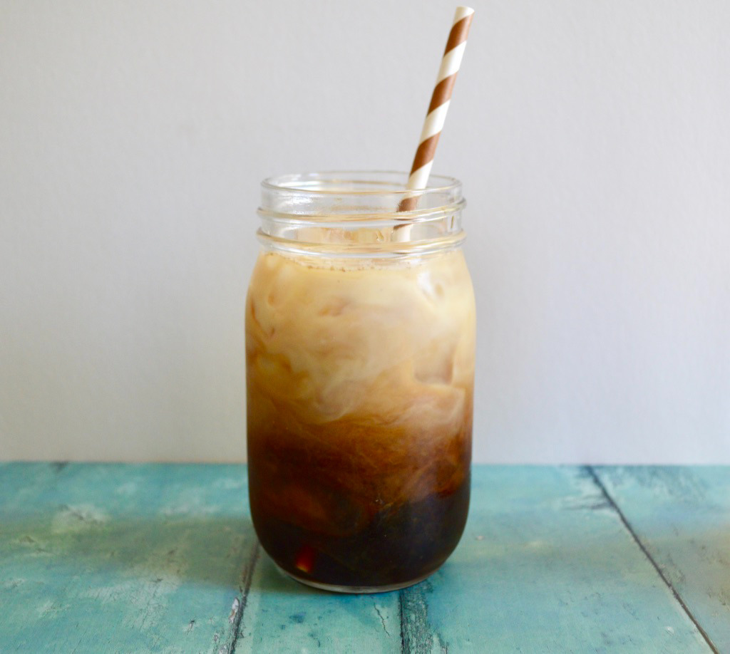 Iced Latte with Homemade Cinnamon Syrup