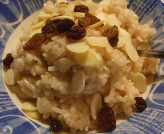 Rice Pudding, but not as we know it. Payasam (Indian Rice Pudding)