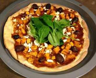 Pumpkin Feta and Pine Nut Pizza