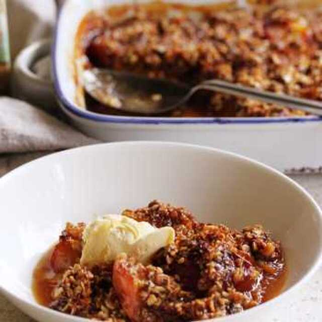 Breakfast Stone Fruit Crumble