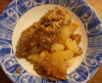 A pudding to make my diet crumble: Apple and elderflower crumble
