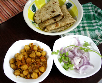 Kadhai Chole ~ Side dish for Chapati